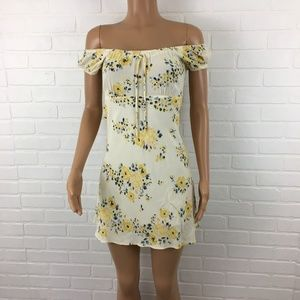 Urban Outfitters little floral dress in yellow